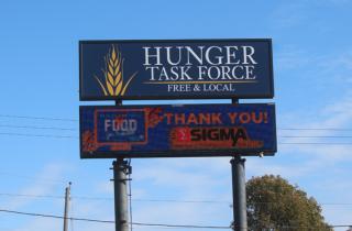 hunger task force sign